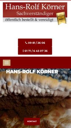 Vorschau der mobilen Webseite www.eichhorn-ansbach.de, Firma Eichhorn - Rolf Körner