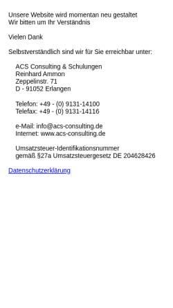 Vorschau der mobilen Webseite www.acs-consulting.de, ACS Consulting