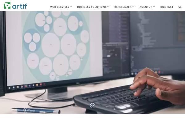 Vorschau von artif.com, artif GmbH & Co. KG