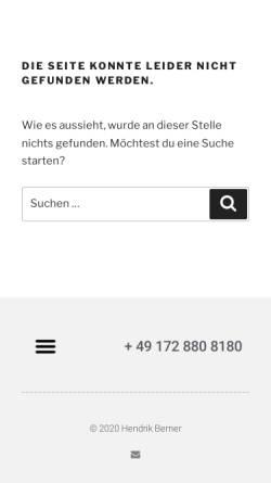 Vorschau der mobilen Webseite www.berner-consulting.de, Berner Consulting
