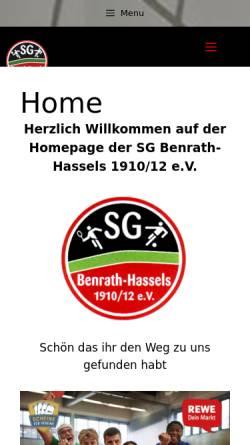 Vorschau der mobilen Webseite www.benrath-hassels.de, Benrath - Hassels 1910 / 12 e.V.