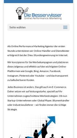 Vorschau der mobilen Webseite www.die-besserwisser.de, Die Besserwisser