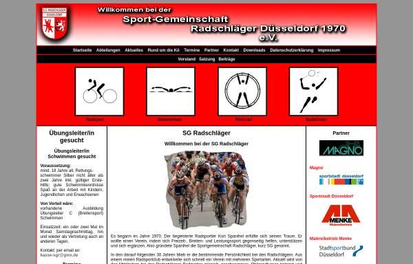 Vorschau von www.sg-radschlaeger.de, SG Radschläger Düsseldorf 1970