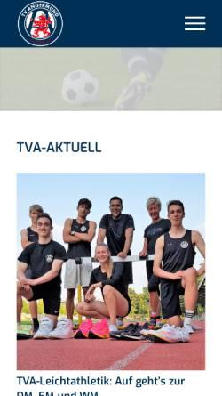 Vorschau der mobilen Webseite www.tv-angermund.de, Turnverein Angermund
