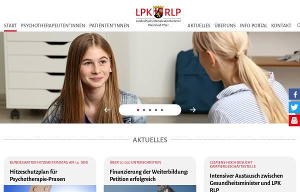 Vorschau von www.lpk-rlp.de, Landespsychotherapeutenkammer Rheinland-Pfalz