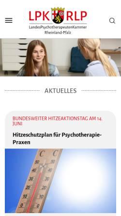 Vorschau der mobilen Webseite www.lpk-rlp.de, Landespsychotherapeutenkammer Rheinland-Pfalz