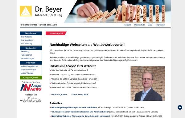 Vorschau von www.dr-beyer.de, Dr. Beyer Internet-Beratung