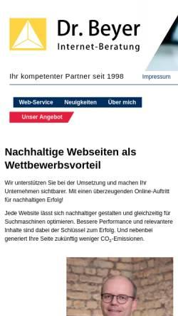 Vorschau der mobilen Webseite www.dr-beyer.de, Dr. Beyer Internet-Beratung