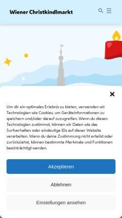 Vorschau der mobilen Webseite www.christkindlmarkt.at, Wiener Adventzauber!