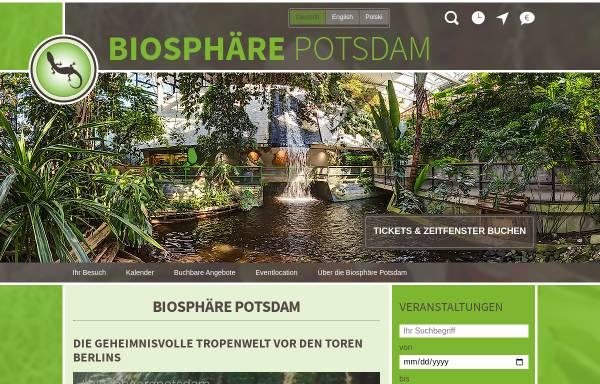 Vorschau von www.biosphaere-potsdam.de, Biosphäre