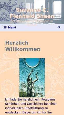 Vorschau der mobilen Webseite www.visit-potsdam.de, Visit Potsdam