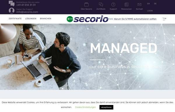 Sichere SSL-Zertifikate von Secorio: Zertifizierungen, Kryptographie ...