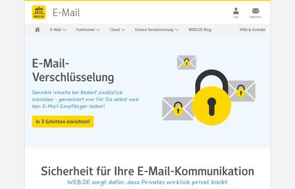 Vorschau von trust.web.de, Web.de Trustcenter