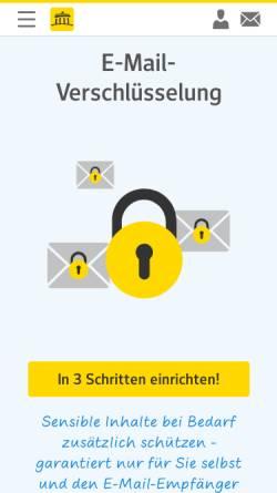 Vorschau der mobilen Webseite trust.web.de, Web.de Trustcenter