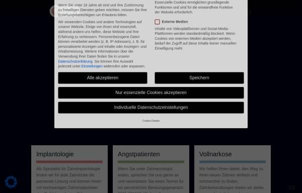 Vorschau von www.drschlimbach.de, Dr. Günther Schlimbach, Praxis für Zahnheilkunde