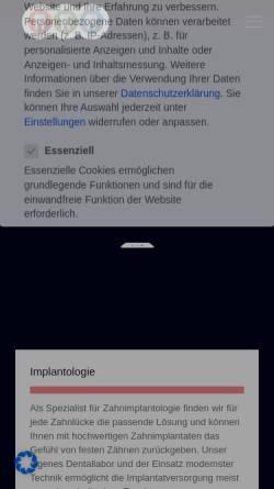 Vorschau der mobilen Webseite www.drschlimbach.de, Dr. Günther Schlimbach, Praxis für Zahnheilkunde