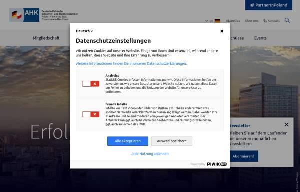 Vorschau von ahk.pl, Deutsch-Polnische Industrie- und Handelskammer