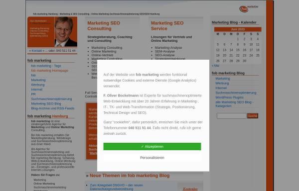 Vorschau von www.fob-marketing.de, fob Marketing