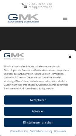 Vorschau der mobilen Webseite www.geyermk.de, Geyer M&K