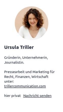 Vorschau der mobilen Webseite www.triller.com, Triller. Communication Consultants