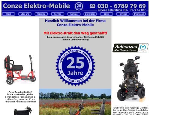 Vorschau von www.elektro-mobile.de, Conze Elektro-Mobile