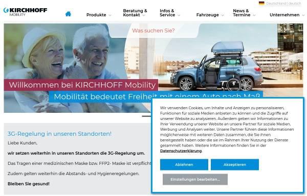 Vorschau von www.kirchhoff-mobility.com, REHA Group Automotive