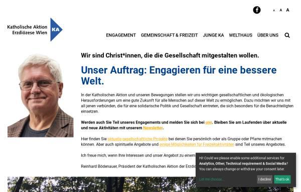 Vorschau von www.ka-wien.at, Katholische Aktion der Erzdiözese Wien