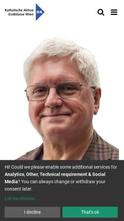 Vorschau der mobilen Webseite www.ka-wien.at, Katholische Aktion der Erzdiözese Wien