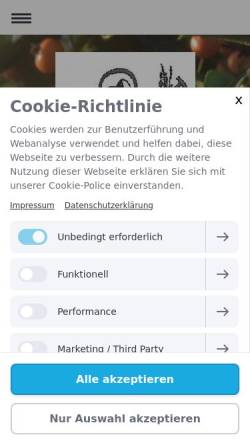 Vorschau der mobilen Webseite www.post-kgv.de, Post-Kleingärtnerverein Düsseldorf e.V.