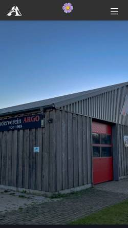 Vorschau der mobilen Webseite www.rv-argo.de, Ruderverein ARGO e.V. - Aurich