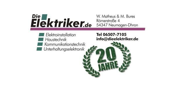 Vorschau von www.dieelektriker.de, Die Elektriker - Werner Matheus und Manfred Bures