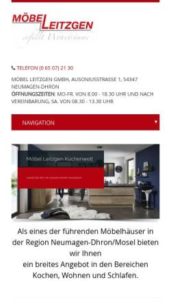 Vorschau der mobilen Webseite www.leitzgen.de, Möbel-Leitzgen GmbH