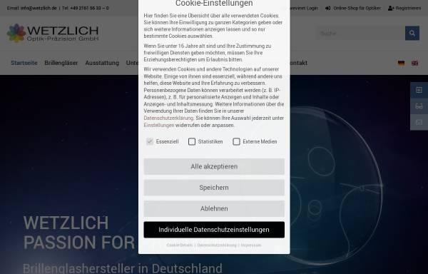 Vorschau von www.wetzlich.de, Wetzlich Optik Präzision GmbH