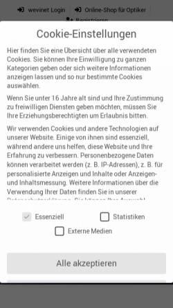 Vorschau der mobilen Webseite www.wetzlich.de, Wetzlich Optik Präzision GmbH