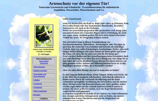 Vorschau von www.hydro-kosmos.de, Artenschutz vor der eigenen Tür