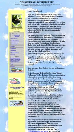 Vorschau der mobilen Webseite www.hydro-kosmos.de, Artenschutz vor der eigenen Tür