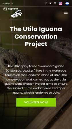 Vorschau der mobilen Webseite www.utila-iguana.de, Schutzprojekt Utila-Leguan