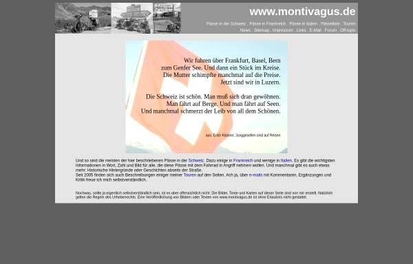 Vorschau von www.montivagus.de, Alpenpässe mit dem Rad