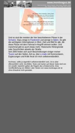 Vorschau der mobilen Webseite www.montivagus.de, Alpenpässe mit dem Rad