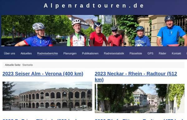 Vorschau von www.alpenradtouren.de, Alpenradtouren.de