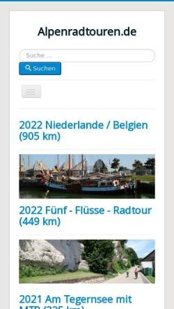 Vorschau der mobilen Webseite www.alpenradtouren.de, Alpenradtouren.de