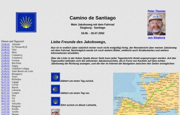 Vorschau von www.peter--thomas.de, Camino de Santiago - Jakobsweg