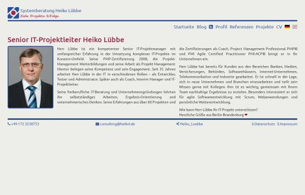 Vorschau von www.consulting.heikol.de, Lübbe, Heiko