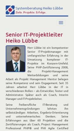 Vorschau der mobilen Webseite www.consulting.heikol.de, Lübbe, Heiko