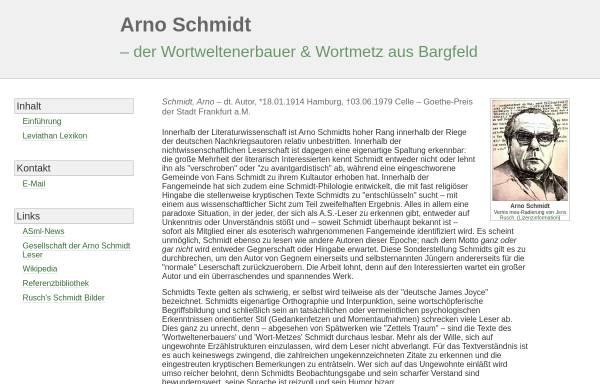 Vorschau von www.wolldingwacht.de, Arno Schmidt