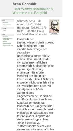 Vorschau der mobilen Webseite www.wolldingwacht.de, Arno Schmidt