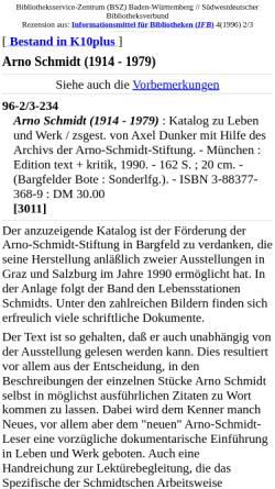 Vorschau der mobilen Webseite www.bsz-bw.de, Arno Schmidt (1914 - 1979)
