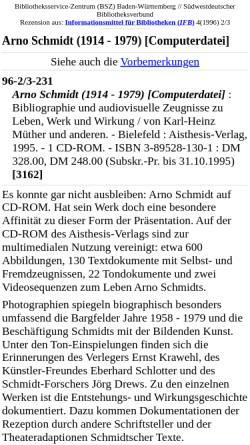 Vorschau der mobilen Webseite www.bsz-bw.de, Arno Schmidt (1914 - 1979) [Computerdatei]