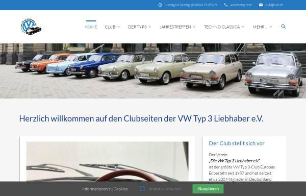 Vorschau von www.typ3.de, VW-Typ 3 Liebhaber e.V.