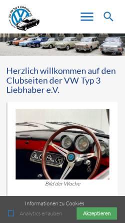 Vorschau der mobilen Webseite www.typ3.de, VW-Typ 3 Liebhaber e.V.